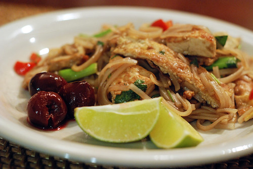 Pad Thai with pickled cherries