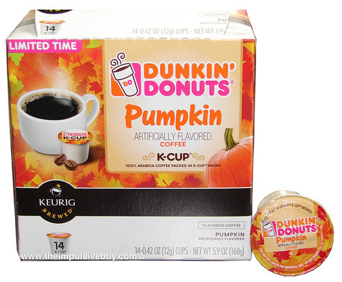 Dunkin' Donuts Pumpkin Coffee K-Cup Pack
