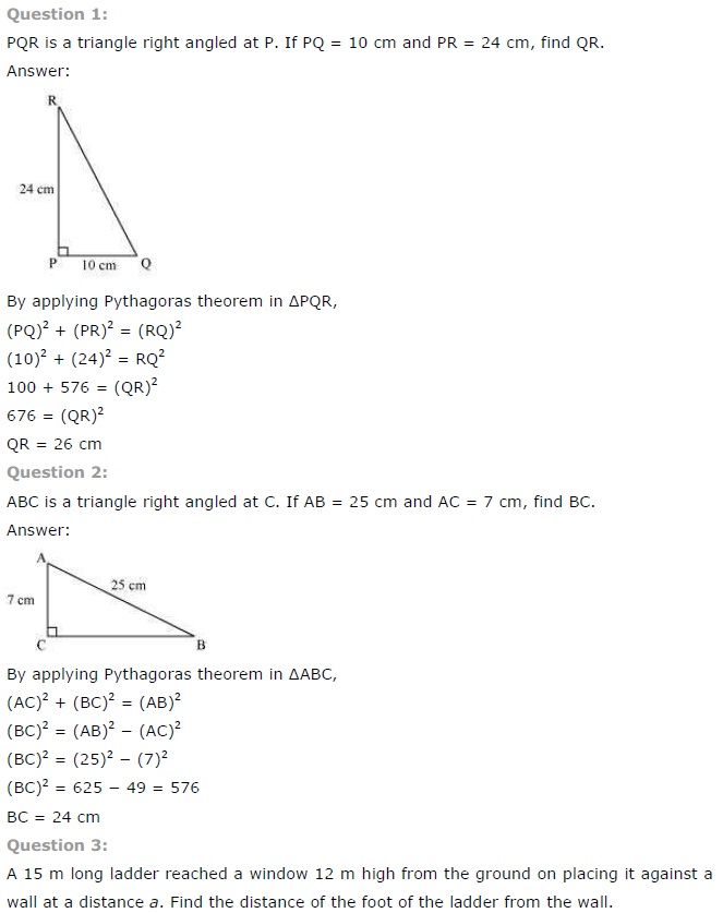 NCERT Solutions for Class 7th Maths Chapter 6 The Triangle and its Properties Exercise 6.5