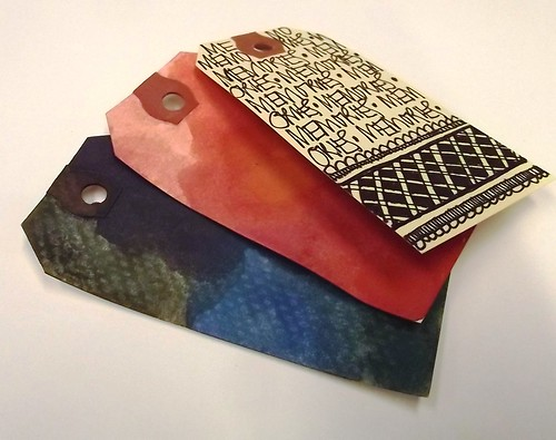 Water color Paper Tags