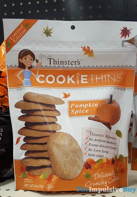 Limited Edition Mrs Thinster's Pumpkin Spice Cookie Thins