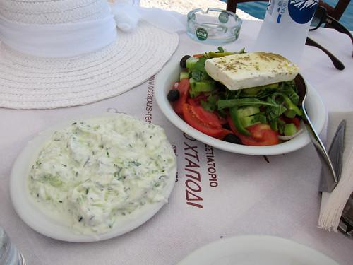 Tzatziki and Greek Salad