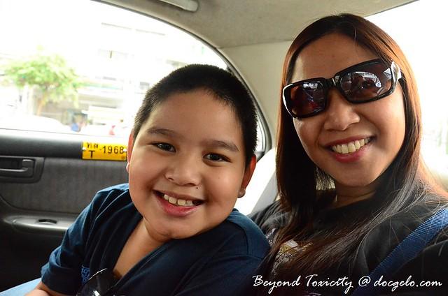 gabby & tina en route to the malls in bangkok