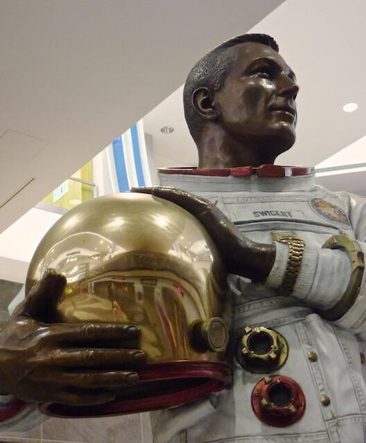 Statue Of John L Jack Swigert Jr At Denver