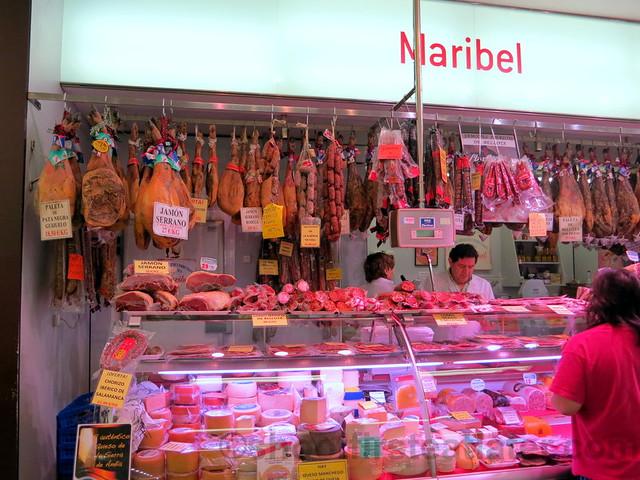 supermarket in San Sebastian- smoked meats