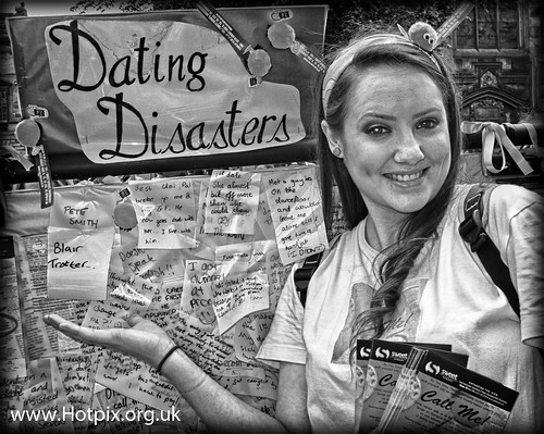Fringe 2012 - Call Me, Dating Disasters on The High St, Royal Mile, Edinburgh City, Scotland
