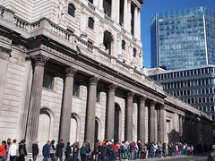 Queue outside The Bank of England during the London Open House 2012