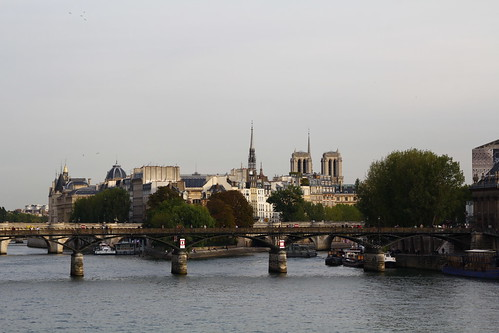 Glimpse of Notre Dame bell towers