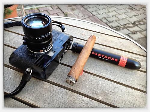 Leica M9 and a Partagas P2