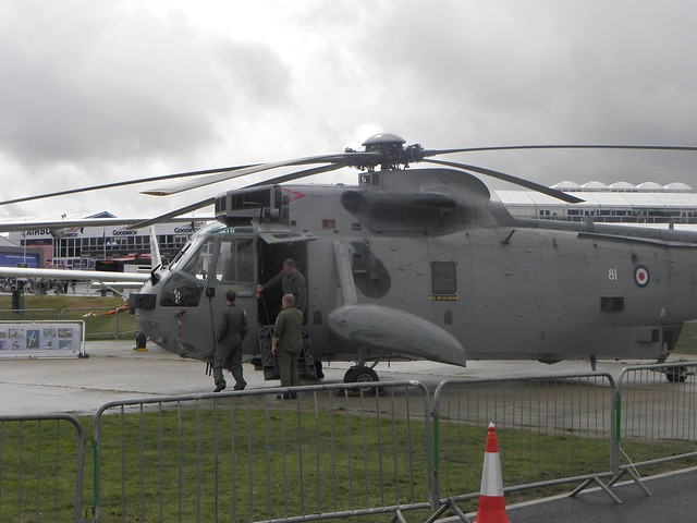 Military helicopter at the 2010 Farnborough Air Show
