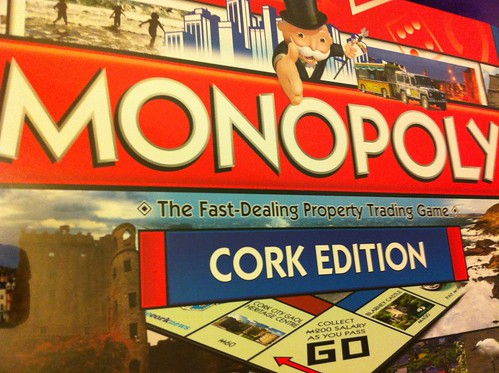 Cork Monopoly board game, featuring a few of my photos