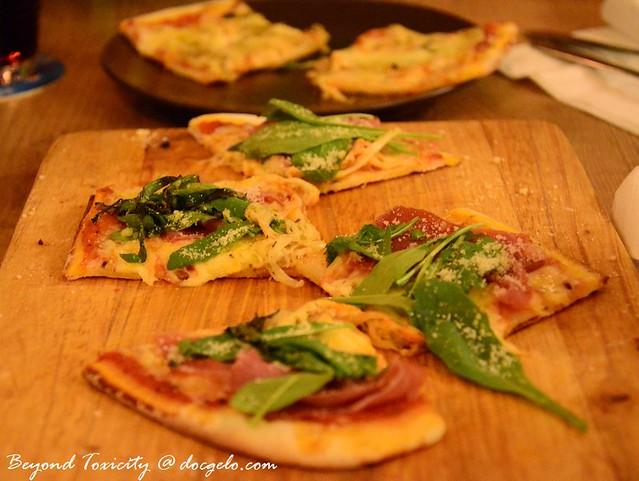 parma ham rucola  parmesan pizza at soul kitchen penang