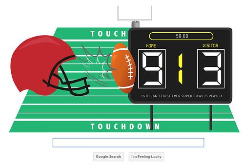 First Ever Superbowl Game / Google Doodle