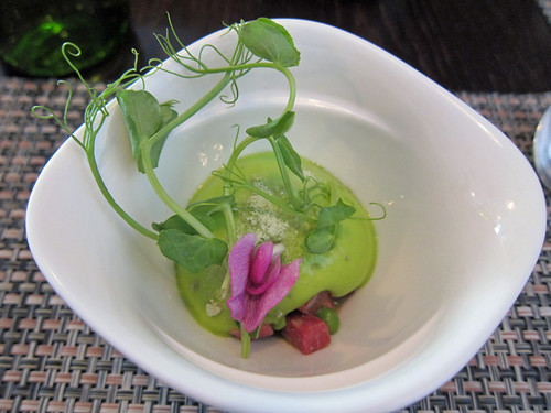 Pea Mousse and Slow Cooked Beef Tongue