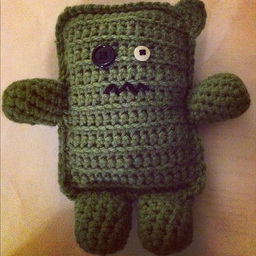 #monster! Done!  With scraggly ear! #amigurumi #crochet