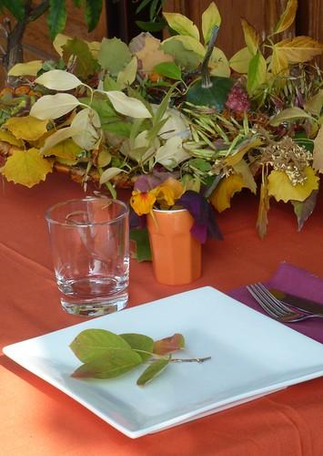 Tablescape in Orange