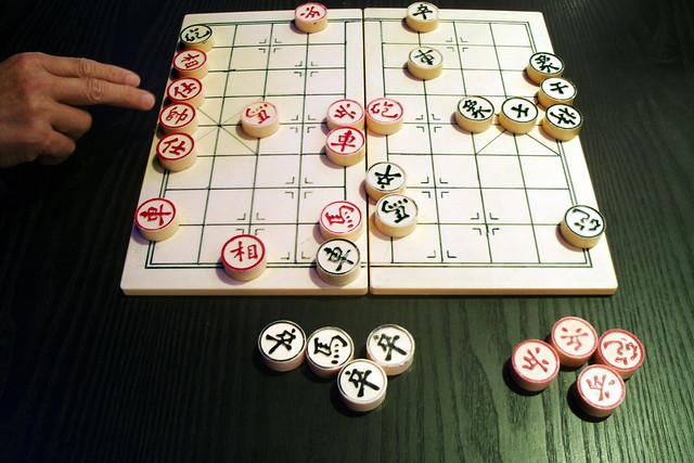 Chinees schaken in de Haagse bibliotheek