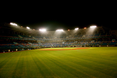 Taoyuan International Baseball Stadium from the Outfield Stands