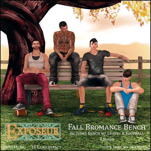 Fall Bromance Bench