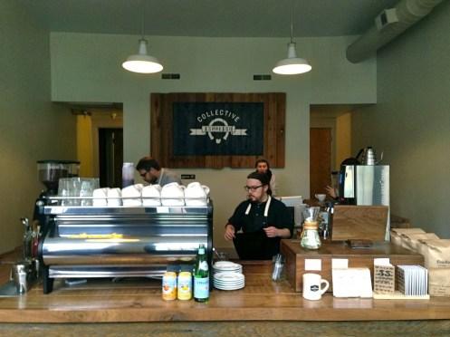 strada pulling espresso in Cincinnati...