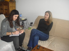 Durante la entrevista a Eva Malia