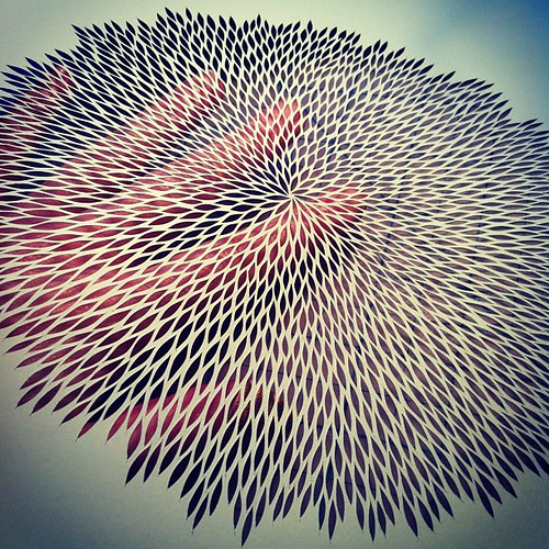This one vibrates. Work in progress paper cut.