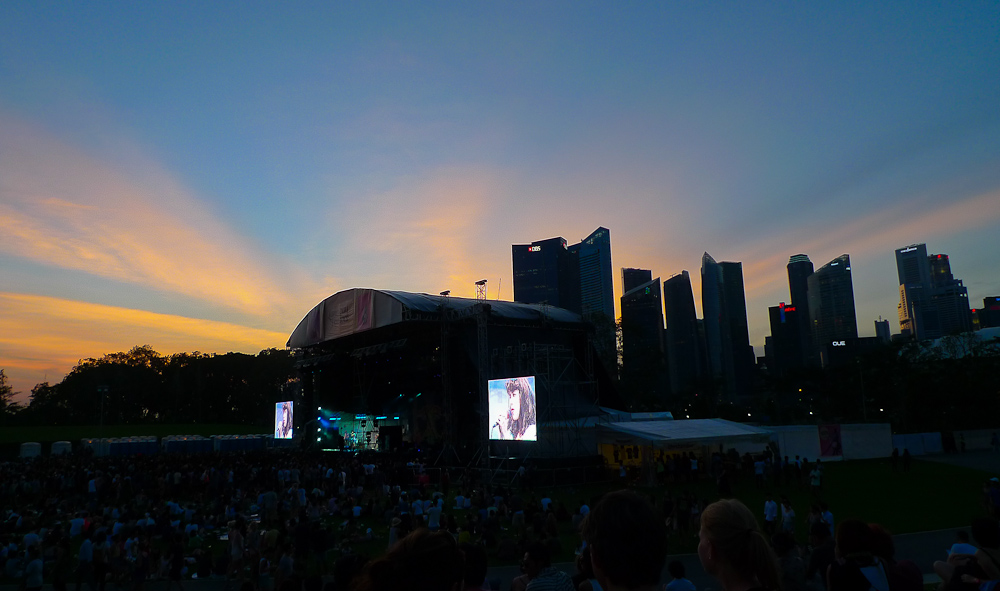 Sunset at Laneway Festival