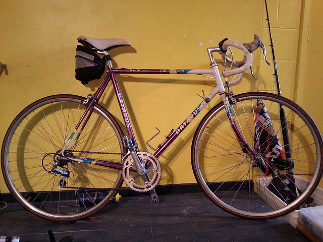 @jackelder @saniac This is my next project, hand me down 531 road bike. Looking for a fixed / free wheel set so I can convert it.