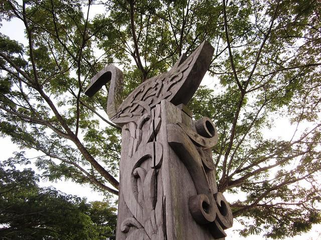 Sibu riverfront - carvings