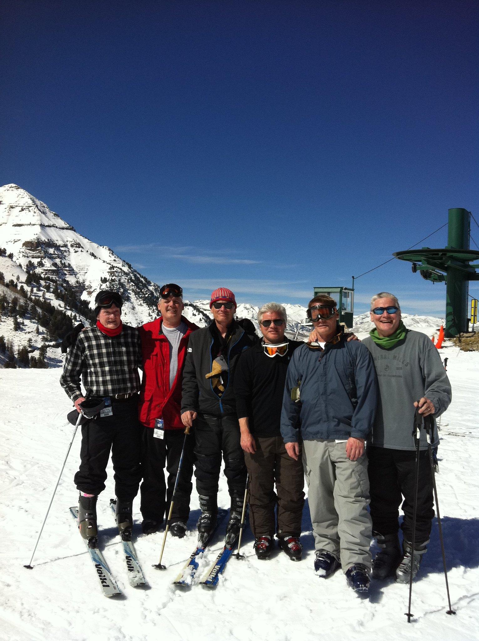 Family ski fun.