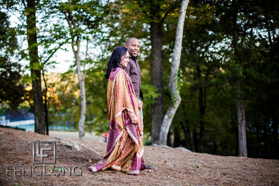 Janella & Chuck's Engagement Session | Three Chimneys Farm | Atlanta Indian Multicultural Wedding Photographer