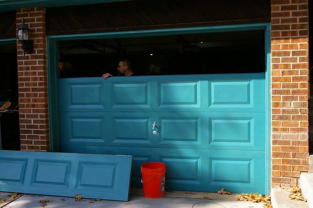 Installing Garage Doors - Sunday Morning