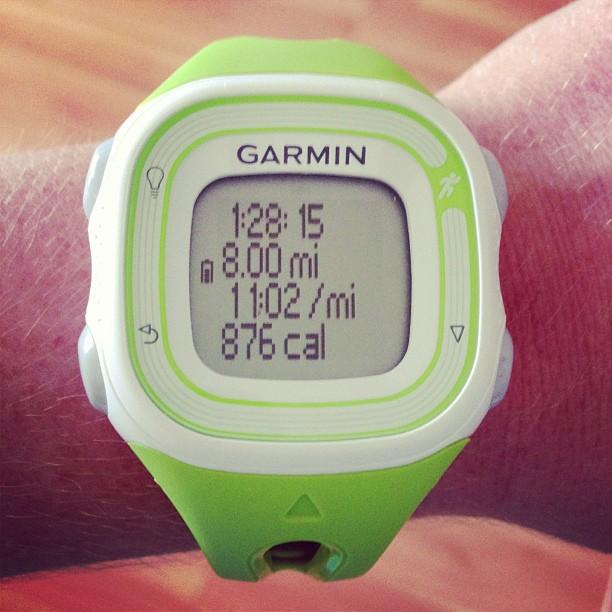 Hurricane Sandy didn't make it easy but it's done! #8miles #halfmarathon #slowandsteady