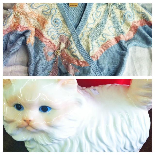 halloween thrift catlady costume