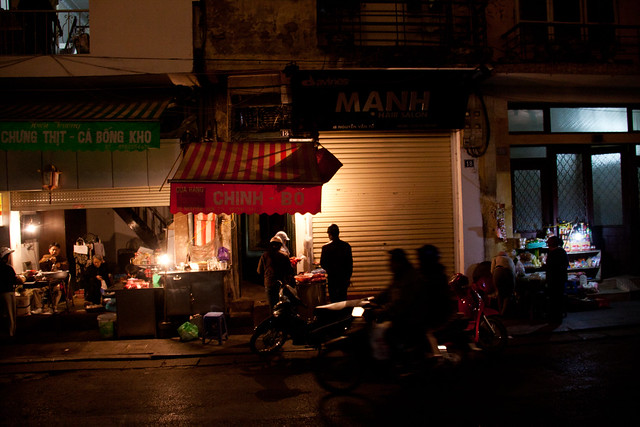 Night Scene in the Old Quarter - Hanoi, Vietnam