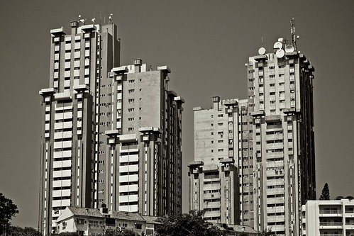 high rise buildings in Maputo city