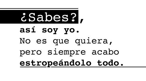 ¿Sabes?