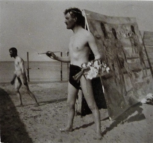 Munch painting on the beach
