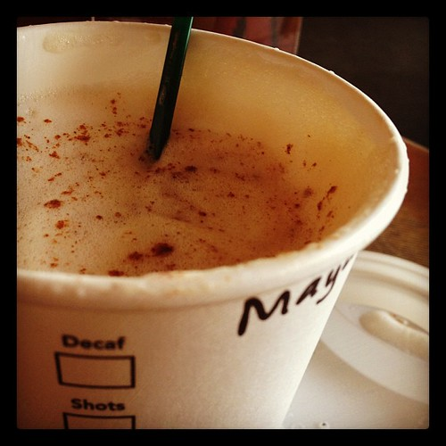 Tall nonfat #cappuccinno extra #cinnamon makes my world colorful again. #starbucksnomad #norecipejuststory
