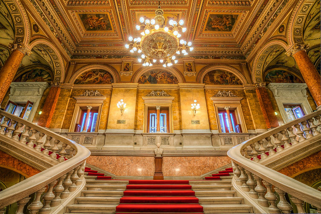 The beauty of the opera stairs