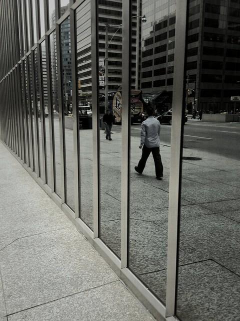 Pedestrians Under Glass