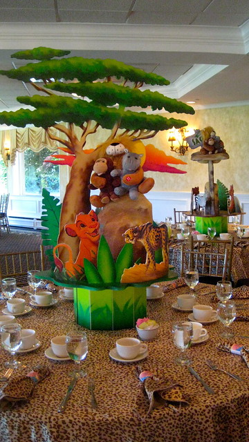 Safari Themed Baby Shower Centerpiece Ideas