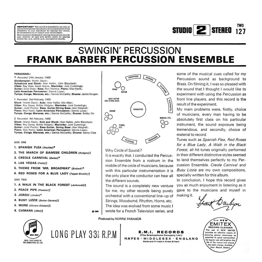 Frank Barber - Swingin' Percussion