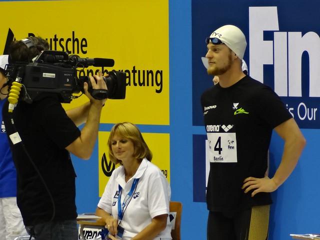 Steffen Deibler ready for the Berlin 2012 men's 50 fly