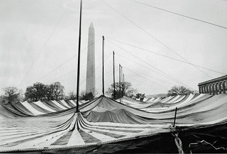Erecting the Counter-Inaugural Tent: 1969