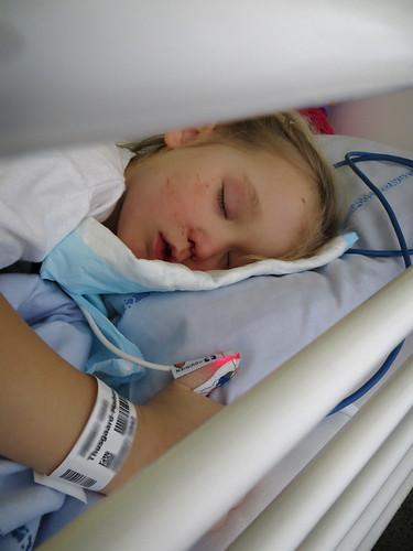 Still asleep from the anaesthetics