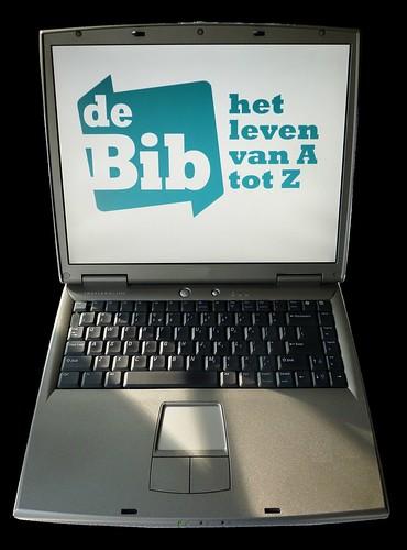 Laptop : biblogo-blauw