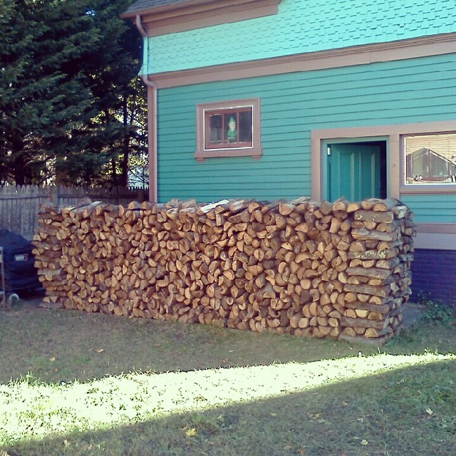 Two cords of firewood