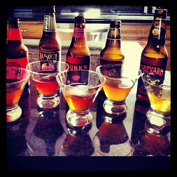 Double instagram attack! Pumpkin beer tasting!