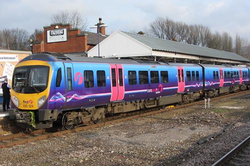 Stalybridge Station and Class 185